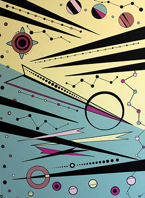 Urban Petroglyphs Number 6 Art Print by Debra Jacobson