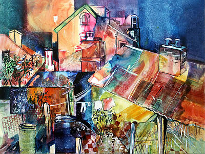 Art Print featuring the painting Urban Sprawl 1 by Rae Andrews