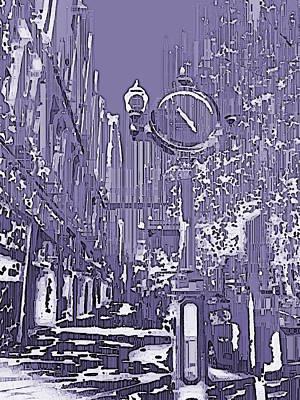 Urban Timepiece Art Print by Tim Allen