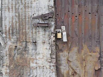 Photograph - Urban Warehouse Doors by Kathleen Grace