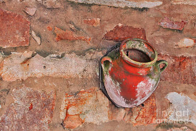 Photograph - Urn On A Wall by Stephen Mitchell