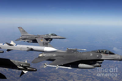 Game Of Chess - U.s. Air Force F-16 Fighting Falcon by Stocktrek Images
