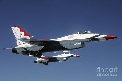 U.s. Air Force F-16 Thunderbirds Print by Stocktrek Images