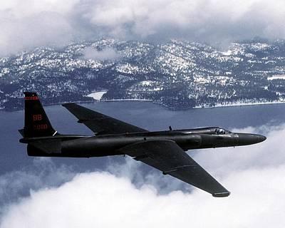 Us Air Force U-2 High-altitude Art Print by Everett