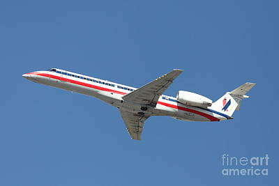 Us Airways Jet Airplane  - 5d18405 Art Print by Wingsdomain Art and Photography