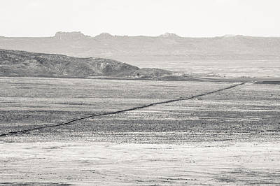 Photograph - U.s. Alt-89 At Vermilion Cliffs Arizona Bw by Julie Niemela