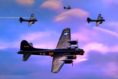 Photograph - Us Army Air Corps B17g Flying Fortress by Chris Lord