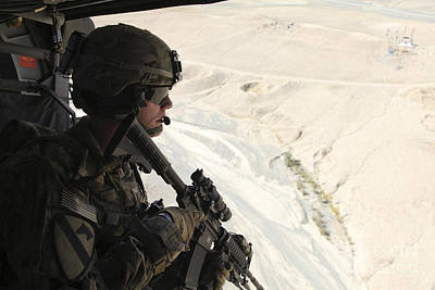 Logar Photograph - U.s. Army Captain Looks Out The Door by Stocktrek Images