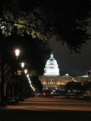 Photograph - Us Capitol At Night by Keith Stokes