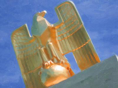 Digital Art - Us Eagle Eyes Over Henri Chapelle by Nop Briex