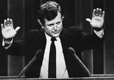Us Elections. Us Senator Edward Kennedy Art Print by Everett