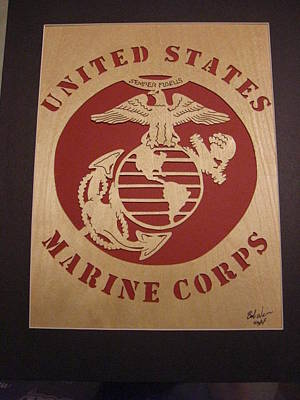 Mixed Media - U.s. Marine Corps by Bob Weir
