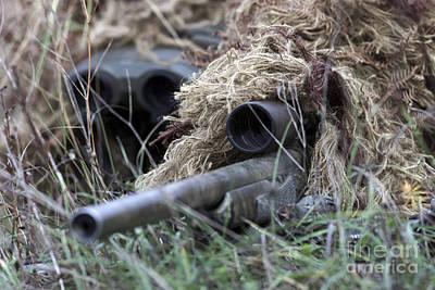 Blending Photograph - U.s. Marines Practice Stalking by Stocktrek Images
