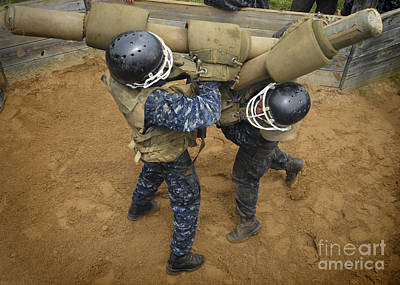 Physical Training Photograph - U.s. Naval Academy Plebes Compete by Stocktrek Images