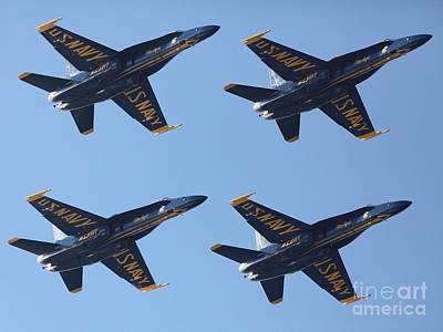 Airplane Photograph - Us Navy Blue Angels - 5d18965 by Wingsdomain Art and Photography