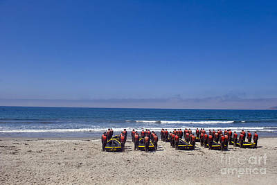 Inflatable Boats Photograph - U.s. Navy Seal Candidates Participate by Stocktrek Images