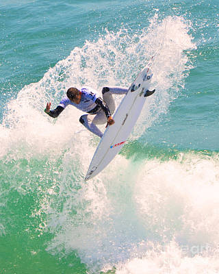 Us Open Of Surfing 2012      10 Print by Jason Waugh