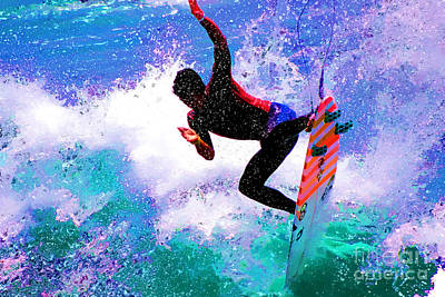 Us Open Of Surfing 2012 Art Print by RJ Aguilar