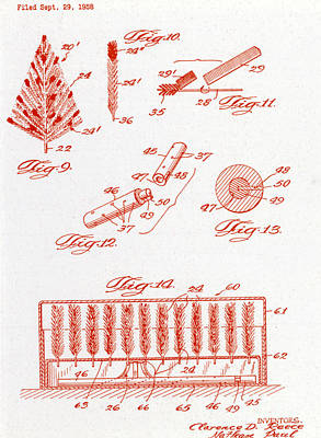 Photograph - Us Patent Diagram by Science Source