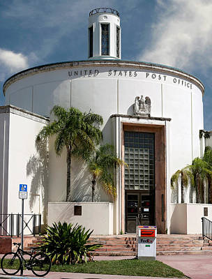 Photograph - Us Post Office. Miami Beach. Fl. Usa by Juan Carlos Ferro Duque