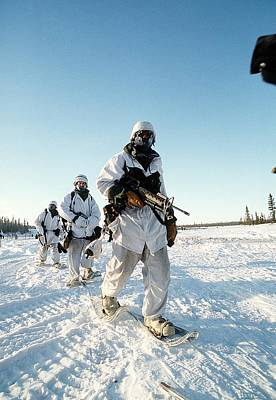 Combat Gear Photograph - Us Soldiers In Arctic Warfare Training by Everett