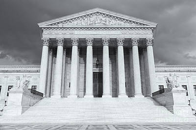 Photograph - Us Supreme Court Building Viii by Clarence Holmes