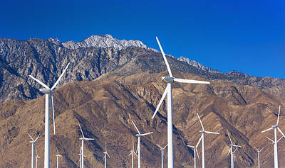 Y120907 Photograph - Usa, California, Palm Springs, Wind Farm by Tetra Images