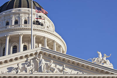 Y120907 Photograph - Usa, California, Sacramento, California State Capitol Building by Bryan Mullennix