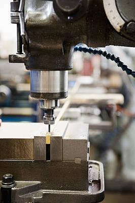 Usa, California, Santa Ana, Manufacturing Equipment Art Print