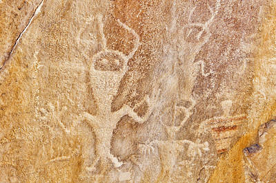 Y120907 Photograph - Usa, Utah And Colorado, Dinosaur National Monument, Petroglyphs by Bryan Mullennix