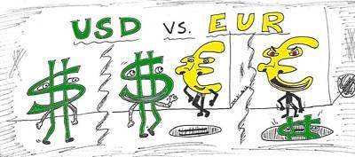 Financial Mixed Media - Usd Vs. Eur by OptionsClick BlogArt