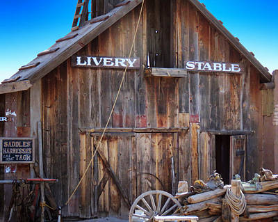 Livery Stable Photograph - Used To Be by Diane Wood