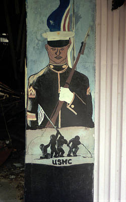 Photograph - Usmc Mural  by Doug  Duffey