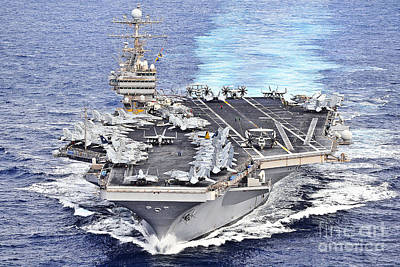 Politicians Royalty-Free and Rights-Managed Images - Uss Abraham Lincoln Transits by Stocktrek Images