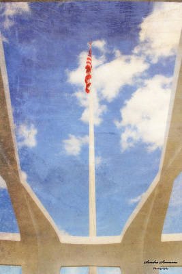Photograph - Uss Arizona Memorial Flag by Sandra Simmons