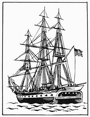 Photograph - Uss Constitution, 1812 by Granger