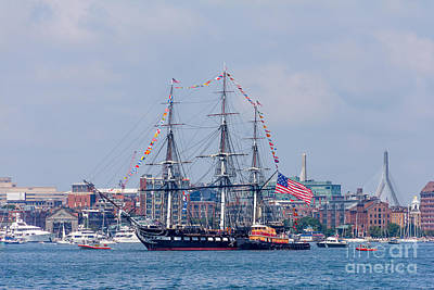 Photograph - Uss Constitution Cruise by Susan Cole Kelly