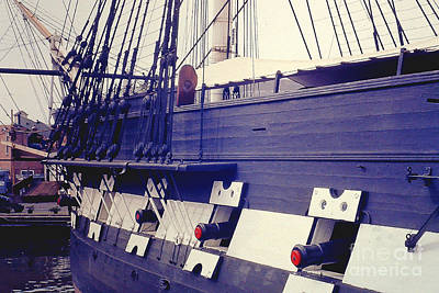 Photograph - Uss Constitution In Boston Harbor by Merton Allen