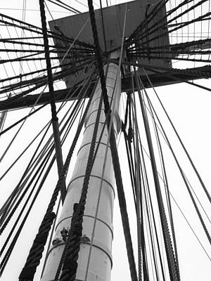 Uss Constitution Mast Art Print by David Yunker