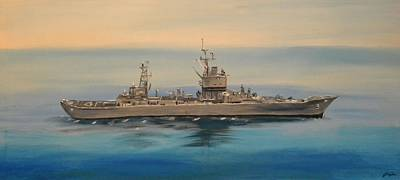 Uss Long Beach Art Print