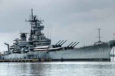 Uss New Jersey Art Print by Jennifer Ancker