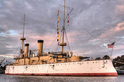 Spanish Ship Photograph - Uss Olympia by JC Findley