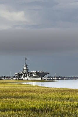 Lowcountry Marshes Photograph - Uss Yorktown  by Drew Castelhano