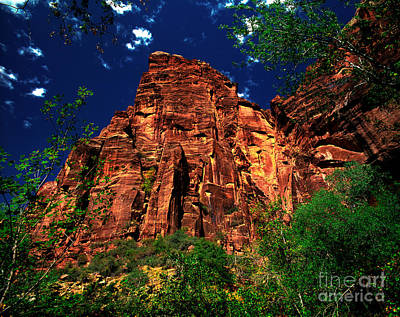 Photograph - Utah - Zion National Park - Angels Landing by Terry Elniski