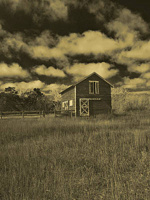 Photograph - Utah Barn In Orotone by Joshua House