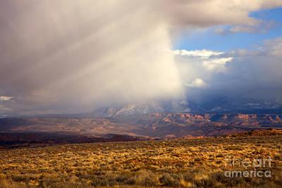 Coy Fish Michael Creese Paintings - Utah Desert Storm by Mike Dawson