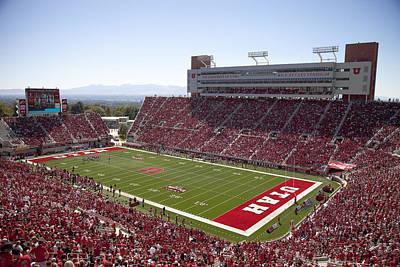 Photograph - Utah Rice-eccles Stadium by Richard Greene