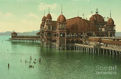 Utah Saltair Pavilion On The Great Salt Lake Art Print