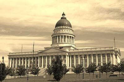 Photograph - Utah State Capital by Kristy Jeppson