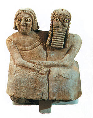 Babylonian Photograph - Utnapishtim And His Wife by Photo Researchers